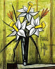 Bernard Buffet pintura flores