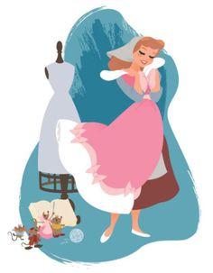 "Cinderella A Dream ""The Art of the Disney Princess"" by Steve Thompson"