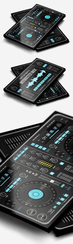Digital DJ Business Card #businesscards #music #psdtemplates #djbusinesscards                                                                                                                                                                                 Más