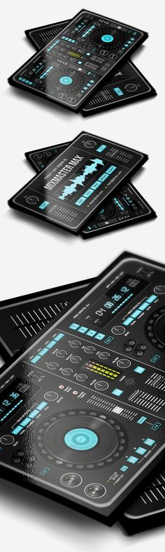 Digital DJ Business Card #businesscards #music #psdtemplates #djbusinesscards
