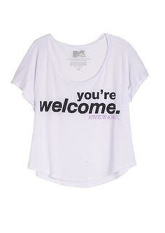 MTV's Awkward You're Welcome Tee  Item#: ...