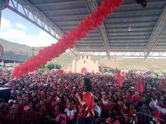 El mitin de la secretaria general del PRI Ivonne Ortega. Foto: Especial