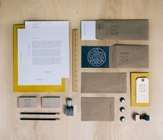 Grand Union stationery. Designed by Justin Crutchley | seen via Lovely Stationery
