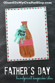 """Best Pop"" Handprint Keepsake Idea for Father's Day"