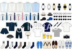 メンズ_アイテム(主線あり) Polyvore, Image, Fashion, Moda, Fashion Styles, Fashion Illustrations