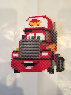 Mack Cars perler beads by BayCollections1 = substitute chart for cross stitch