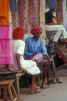 rajasthani men, india