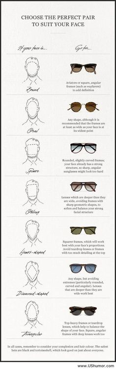 Choose the perfect male glasses