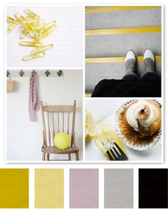 Lovely colors. Grey, lavender & mustard.
