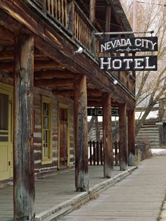 Ghost Town of Nevada City, Montana, USA Photographic Print by Charles ...