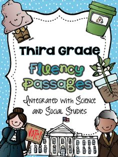 40 fluency passages for my third graders to practice next year.  These passages will be what they take home as homework to read to their parents, or adult, every night.  Fluency passages are nothing new, and I'm sure we all already use them.  What makes these different is that I've integrated them with science and social studies.