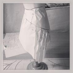 Design process. Paper models.