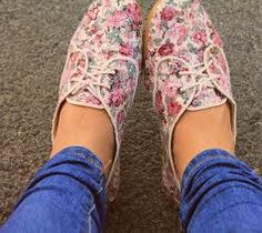 floral summer shoes - fashion