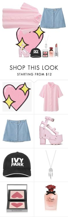 """""""pale"""" by ankita-jha ❤ liked on Polyvore featuring Big Bud Press, Uniqlo, Chicnova Fashion, Ivy Park, Lucky Brand, Burberry and Dolce&Gabbana"""