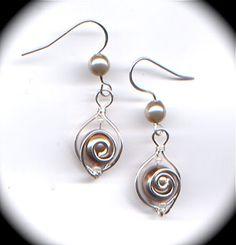 Free Wire Wrapped Pearl Hook Earrings Tutorial featured in Sova-Enterprises.com Newsletetr!