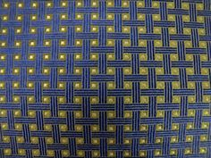 BROOKS BROTHERS Navy/Citron Shimmering Geometric Basketweave Woven Silk Neck Tie #BrooksBrothers #Tie