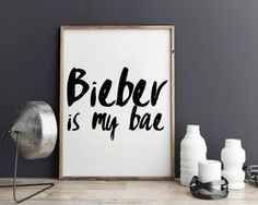 Justin Bieber quote song quotes lyric art by StyleScoutDesign