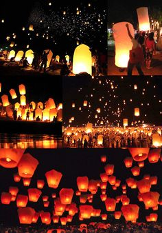 """sky lanterns from the Disney movie """"Tangled""""  a perfect send off after the reception!"""
