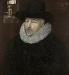 """""""Portrait of a Man"""", follower of Marcus Gheeraerts the younger, 1611; Shipley Art Gallery TWCMS : C152"""