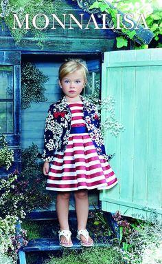 Monnalisa Toddler Dress, Toddler Outfits, Baby Dress, Kids Outfits, Little Girl Outfits, Little Girl Fashion, Girly Outfits, Young Fashion, Kids Fashion