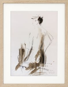 Original drawing, Charcoal Sketch, Mixed media, Figurative Wall art, Nude sketch, Modern Graphic art, Nude Figure, Female, Expressionism by IvMarART on Etsy