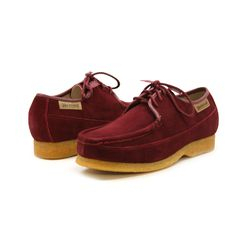 British Collection Crown-Burgundy Suede [613-08] - $149.99 : British Walk, old school Playboy shoes