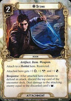 Bilbo Baggins (Sting boon card lotr lcg)