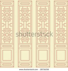 Vector Of Traditional Chinese Classic Window, Door, Screen Frame Pattern - 28716256 : Shutterstock