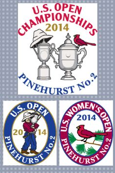 In 2014, for the first time ever, the U.S.Open & the U.S. Women's Open will be played consecutively on the same course, Pinehurst No.2. To commerate this historic event the USGA & Pinehurst Resort have released three logos. One for the men's even, one for the women's and a joint logo for the dual events. More at Golf Girl's Diary