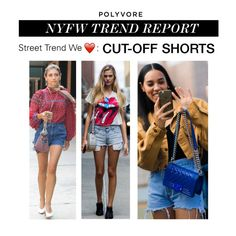 """NYFW Trend Report: Cut-off Shorts"" by polyvore-editorial ❤ liked on Polyvore featuring NYFW, cutoffshorts and pvnyfw"