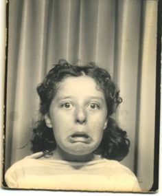 +~ Vintage Photo Booth Picture ~+ See what I mean about Becky and her faces?!