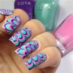 58 Best Water Marble Nail Art Images On Pinterest Water Marble