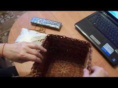Квадратная шкатулка с круглым дном. Плетение из бумаги. МК | oblacco