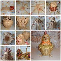 DIY Weaving Paper Chicken Storage Basket  https://www.facebook.com/icreativeideas