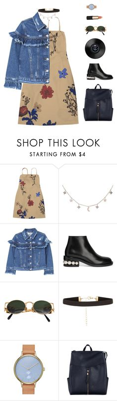 """""""Untitled #1037"""" by greciapaola ❤ liked on Polyvore featuring Luna Skye, MANGO, Nicholas Kirkwood, Jean-Paul Gaultier, New Look, Skagen and Mimco"""
