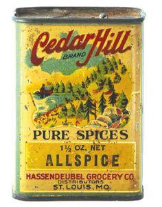 Vintage spice tin