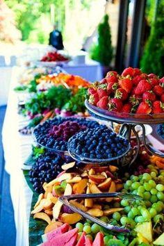 Obst Deko zur Hochzeit – Früchte Büffet