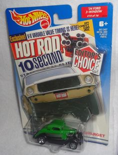 Hot Wheels Editor's Choice Hot Rod '34 Ford 3-Window #14/16 Target Exclusive New #HotWheels #Ford