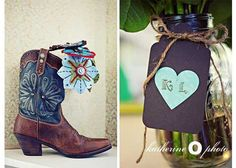Cowboy boots for the bride