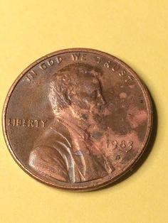 1983 D Lincoln Penny Lamination Coin Error
