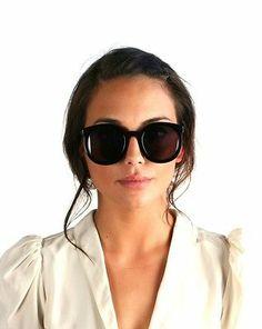 Karen Walker Super Duper Strength Black Sunglasses 100 Authentic Women Girl New   eBay