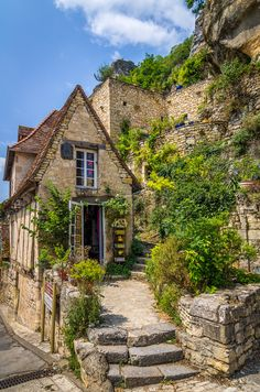 Chronicles of a Love Affair with Nature Rocamadour Shop, Midi-Pyrenees, France by Bob. - Chronicles of a Love Affair with Nature Beautiful Architecture, Beautiful Buildings, Beautiful Landscapes, Beautiful World, Beautiful Homes, Beautiful Places, Stone Houses, Stone Cottages, Places Around The World