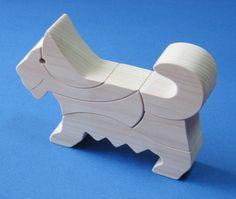 Dog block(犬の積み木デザイン)