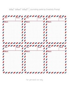 free air mail style journaling cards -- from Creativity Prompt: http://www.creativityprompt.com/freebie-who-when-what-vol-2-journaling-cards/