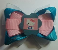 Hello Kitty Hair Bow Set Of 2 by JENSTARDESIGNS on Etsy, $5.00