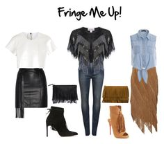 """Fringe Me Up!"" by michaelabetchley ❤ liked on Polyvore featuring dVb Victoria Beckham, Miss Selfridge, Bionda Castana, Velvet by Graham & Spencer, Tamara Mellon, Exclusive for Intermix, Neil Barrett, Christian Louboutin and Yves Saint Laurent"