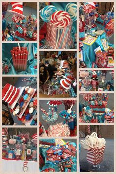 Dr Seuss CITH baby shower candy buffet Dr Seuss Birthday Party, Twin Birthday Parties, Gold Birthday Party, 1st Boy Birthday, Birthday Ideas, 2nd Baby Showers, Baby Shower Candy, Baby Shower Parties, Dr Seuss Party Ideas
