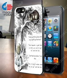Cheshire Cat Quote  Case for iPhone 4/4S 5/5S and by josgandoscase, $14.79