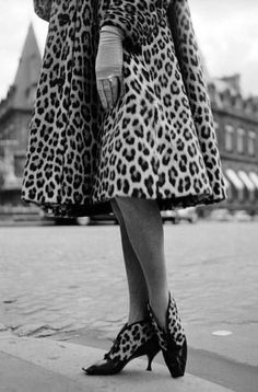 Roger Vivier - Christian Dior - Bottines 'Léopard' - Noir et Blanc - Années 50