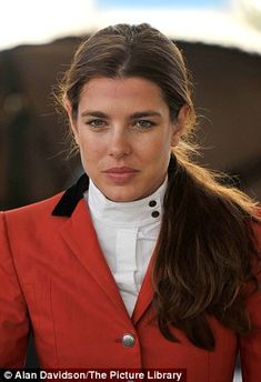 Charlotte Casiraghi takes a tumble during a showjumping event in Paris #dailymail